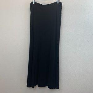 SOLD Eddie Bauer Black Maxi Elastic Waist Skirt